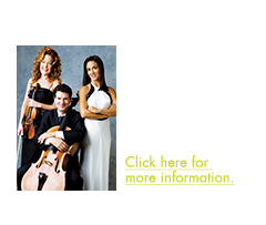 Vote Now for Request Night - The Lincoln Trio performs a unique audience request night! Build the program by picking your favorites! Click here for more information.