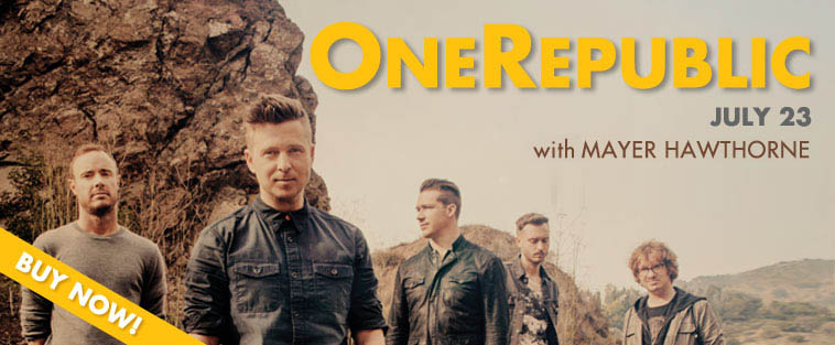 OneRepublic - July 23 - with Churchill and Mayer Hawthorne. - Buy Now